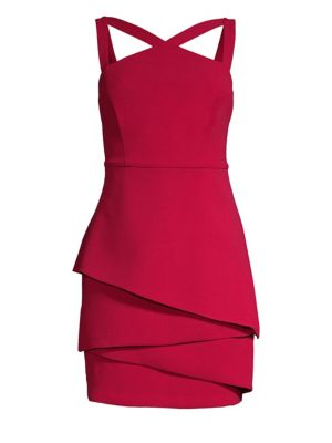 Asymmetrical Peplum Sheath Dress