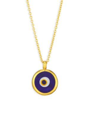 Evil Eye 24K, 22K & 18K Yellow Gold Pendant Necklace