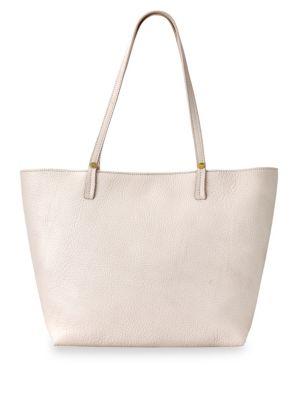Pebble Leather Tote Bag