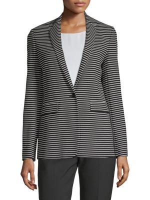 Kinoki Slim-Fit Striped JerseyJacket