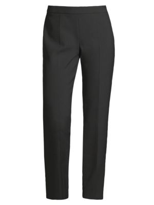 Tiluna Side-Zip 2 Slim-Leg Ponte Cropped Trousers