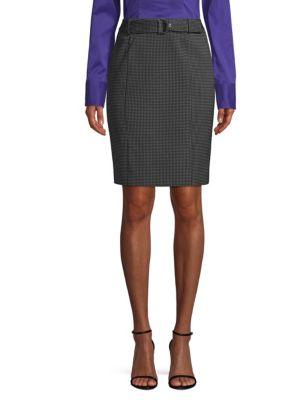 Vumano Dot Dessin Stretch Pencil Skirt