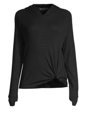Dawn Tie-Front Hooded Sweatshirt