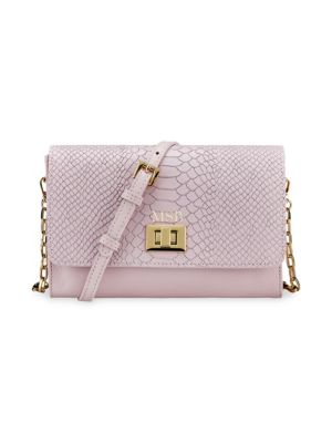 Catherine Snake-Embossed Leather Crossbody Bag