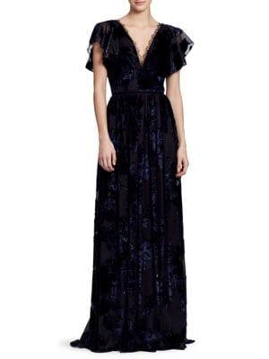 Velvet Lace Gown