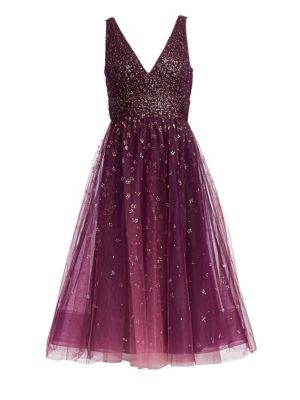 Glitter Tulle Cocktail Dress by Marchesa Notte