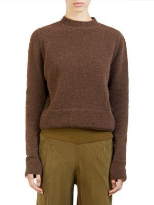Wool-Blend Crop Sweater