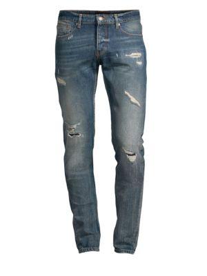 THE KOOPLES Distressed Slim-Fit Jeans