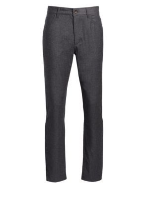 COLLECTION Wool Blend Flannel Flat Trousers