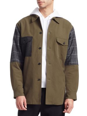 MCQ BY ALEXANDER MCQUEEN Oversized Patchwork Military Jacket