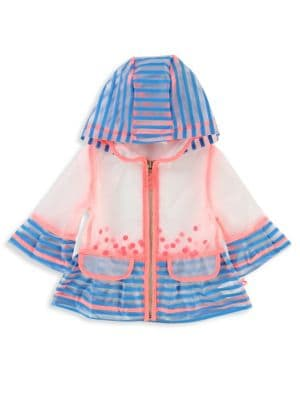 Baby's & Toddler's Hooded Striped Raincoat