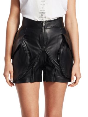 TRE BY NATALIE RATABESI Giovanna Leather Shorts