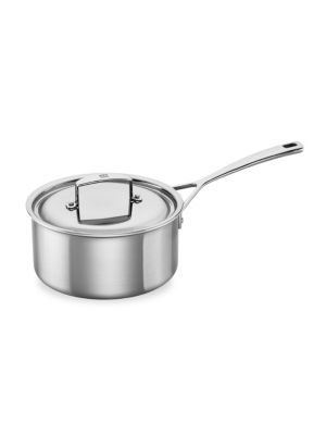 Aurora 3-Quart Stainless Steel Covered Sauce Pan