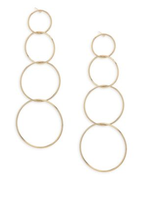 Quatro Hoop Drop Earrings