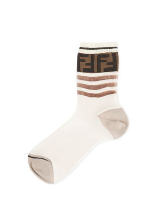 FENDI Striped Logo Socks