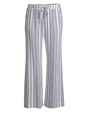 BELLA DAHL | Side Slit Striped Pants | Goxip