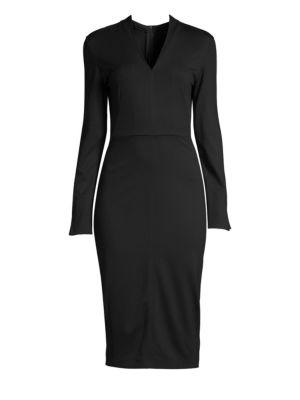 Long Sleeve Jersey Sheath Dress