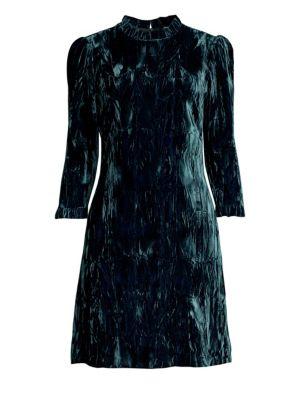 SHOSHANNA Pasha Velvet Mini Dress