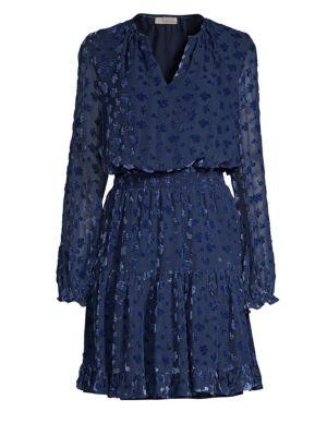 SHOSHANNA Levon Burnout Velvet Mini Dress