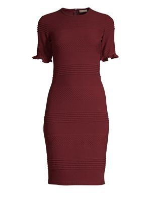SHOSHANNA Roosa Tonal Stripe Sheath Dress