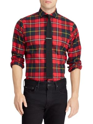 Classic-Fit Brushed Flannel Sport Shirt