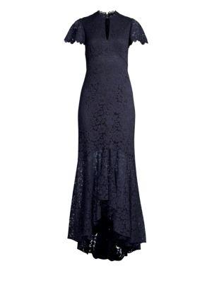 SHOSHANNA Aimi Keyhole Lace Gown