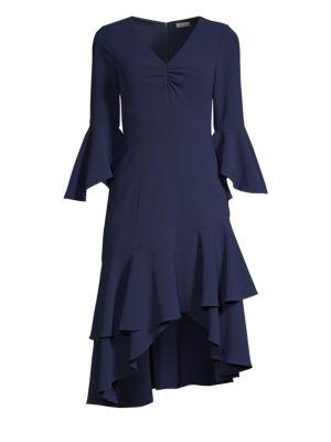 SHOSHANNA Florette Ruffle Trim Sheath Dress