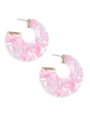 18K Goldplated Pink Statement Earrings