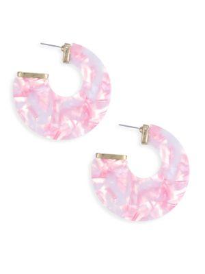 ETTIKA 18K Goldplated Pink Statement Earrings