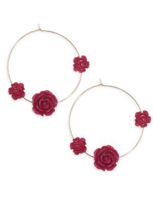 ETTIKA Rose Thin Wire Hoop Earrings