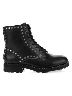 Rock Stud Combat Boots