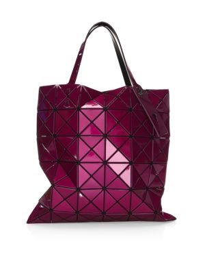 LUCENT METALLIC VINYL TOTE BAG
