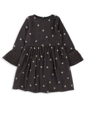 Little Girl's Pleated Crepe Dress
