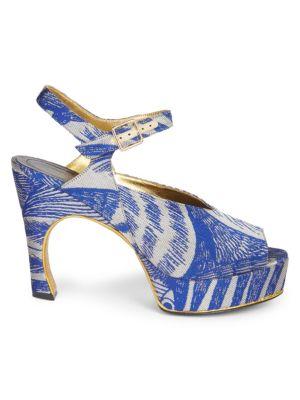 Brocade Platform Sandals