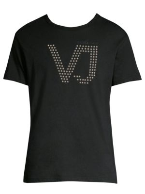 Studded Short Sleeve Cotton T-Shirt