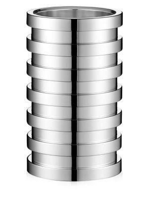 Ruban Silver Vase