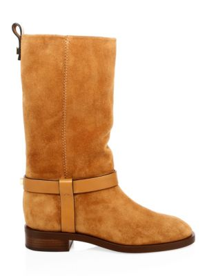 Case Mid-Calf Leather Boots