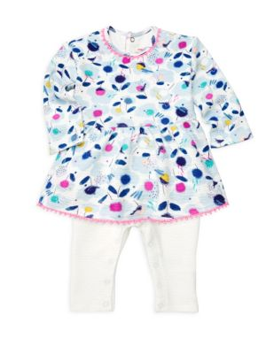 Baby Girl's All In One Peplum Top and Pants Set