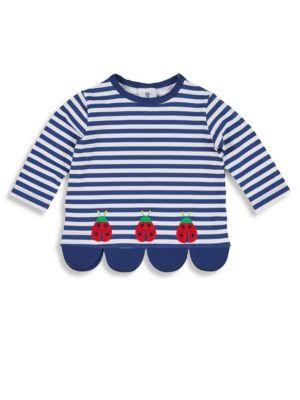 FLORENCE EISEMAN | Little Girl's Ladybug Striped Top | Goxip