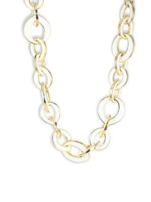 KENNETH JAY LANE Enamel Link Necklace