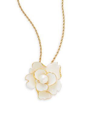 KENNETH JAY LANE Flower Pendant Necklace