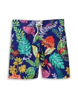 Baby Boy's, Little Boy's & Boy's Tropical Swim Trunks