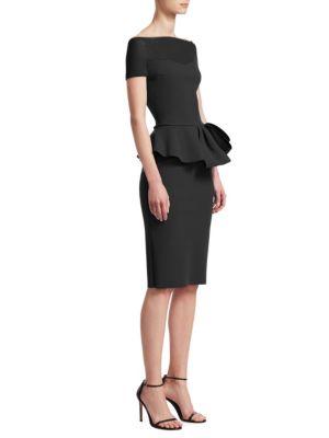 Off The Shoulder Peplum Dress by Chiara Boni La Petite Robe