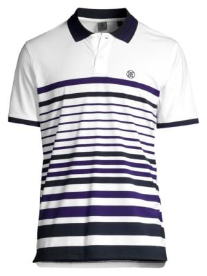 Variegated Striped Polo