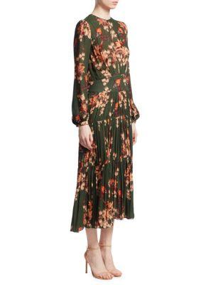 Counter Culture Silk Pleat Dress