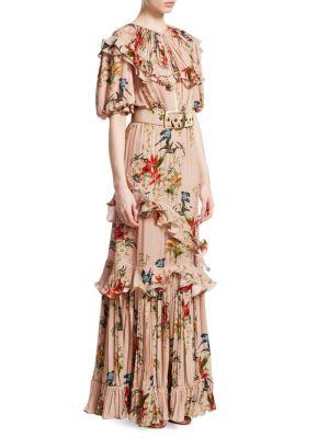 Queen of Sheba Printed Silk Maxi Dress