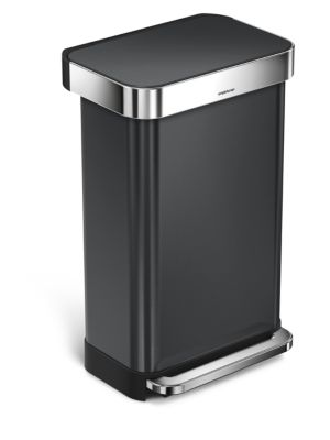 Rectangular Step Trash Can, 45 Liters