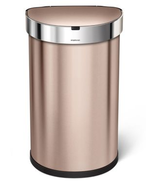 45L Semi-Round Sensor Trash Can With Liner Pocket