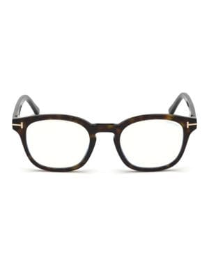 49MM Soft Square Tortoise Shell Optical Eyeglasses
