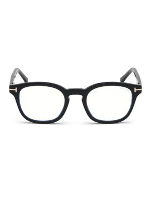 49MM Blue Block Soft Square Eyeglasses